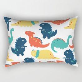Cute Dino Patterns Rectangular Pillow