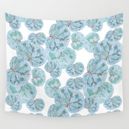 Sea Grape Tropical Leaves Wall Tapestry