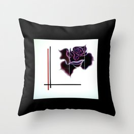 Abstract in perfection - Fertile Imagination Rose 5 Throw Pillow