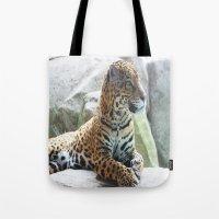 jaguar Tote Bags featuring Jaguar by NaturallyJess