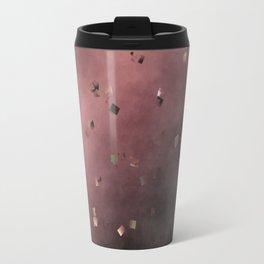 checks dark red purple Travel Mug
