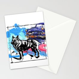 German Shepherd pop art Stationery Cards