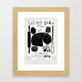 Baka en kaka Framed Art Print