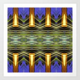 Goldenrod pillars pattern Art Print