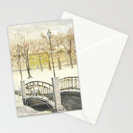 Locks on Little Lovers Bridge Stationery Cards