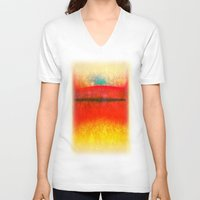 rothko V-neck T-shirts featuring After Rothko 8 by Gary Grayson