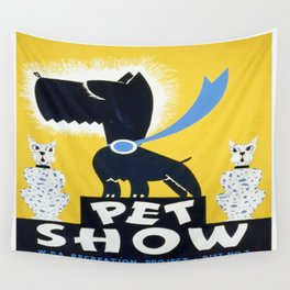 Vintage poster - Pet Show Wall Tapestry