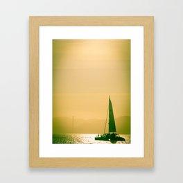 Sail Boat in the Bay Framed Art Print