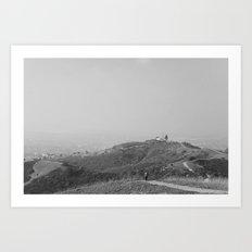 Trails in Whittier, CA Art Print