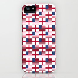 Mix of flag : Usa and england iPhone Case