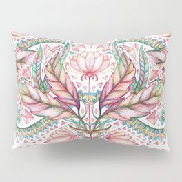 Lily, Leaf & Triangle Pattern – multi-color version Pillow Sham