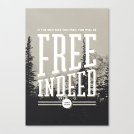 Free Indeed - Photo Canvas Print
