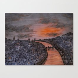 Sunset Cityscape Canvas Print