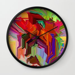 Digital Kabuki Wall Clock