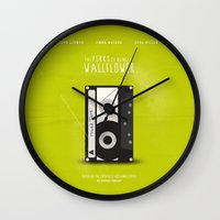 the perks of being a wallflower Wall Clocks featuring The Perks of Being A Wallflower (Vintage) by Lemontrend Studio