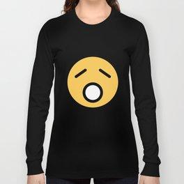 Smiley Face   Sad Sleepy Looking Long Sleeve T-shirt