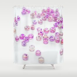Pink and Purple beads Shower Curtain