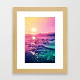 Pastel Sunset Waters Framed Art Print