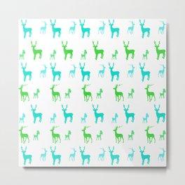 AFE Reindeer Pattern Metal Print