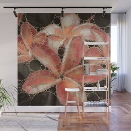 Percolated Tropical Flowers Wall Mural