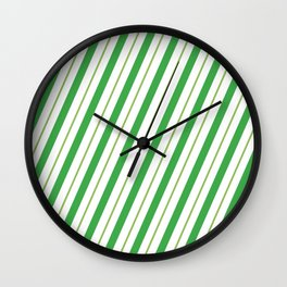 Green Peppermint - Christmas Illustration Wall Clock