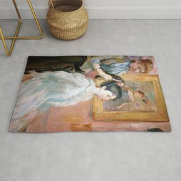 Berthe Morisot - The Hairdressing, La Coiffure - Digital Remastered Edition Rug