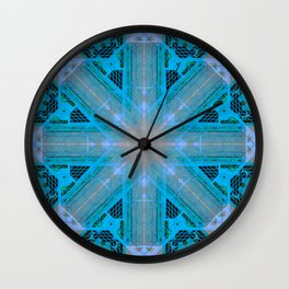 MOROCCAN TILES_in blue Wall Clock