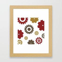 Steam Age Gears Framed Art Print