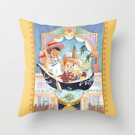 WATER TAXI LANDINGS Confections & Gifts Throw Pillow