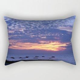 Flaming Clouds Rectangular Pillow