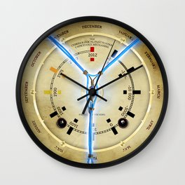 Steampunk Time Travelling Flux Capacitor Wall Clock Wall Clock