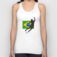 brazil Tank Tops featuring Brazil - WWC by Alrkeaton