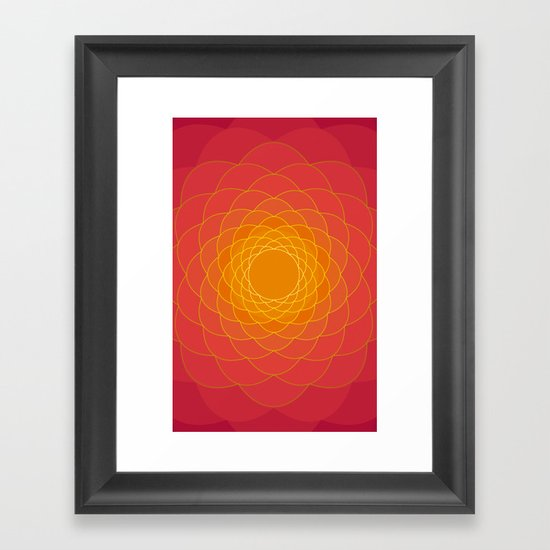 Oriental Background Framed Art Print