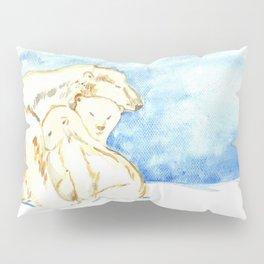 Polar Bear Family Pillow Sham