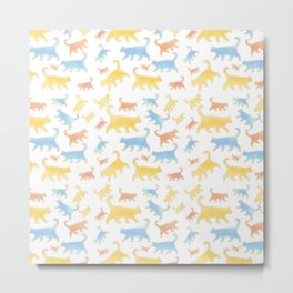 Watercolor Cats - Cats Everywhere! Metal Print