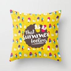 That summer feeling Throw Pillow