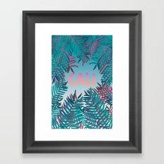 CALI VIBES Framed Art Print