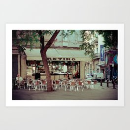 Cafe life Barcelona Art Print