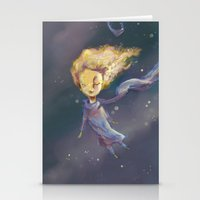 the little prince Stationery Cards featuring Little Prince by QatatoPRINTS
