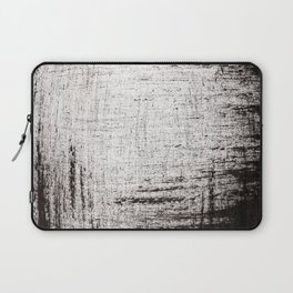 Sketchy Black and White Absrtaction Laptop Sleeve