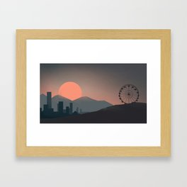 goodnight to a world  Framed Art Print