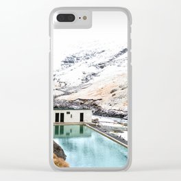 Seljavallalaug Pool, Iceland Clear iPhone Case