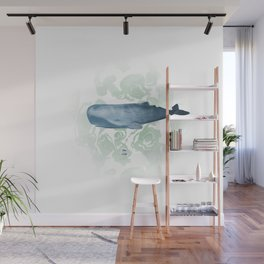 Champion breath holder of the ocean Wall Mural