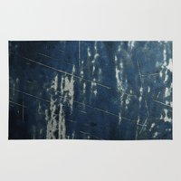 cassandra jean Area & Throw Rugs featuring Blue Jean by Brazen Edwards