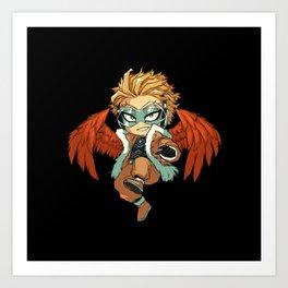 My hero academia Hawks Art Print