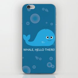 Whale Hello There! iPhone Skin