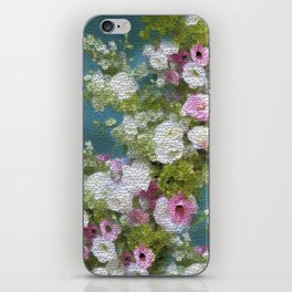 Mosaic Vintage Impressionism- Country Flower Love Joy iPhone Skin