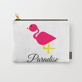 Flamingo and Paradise Carry-All Pouch