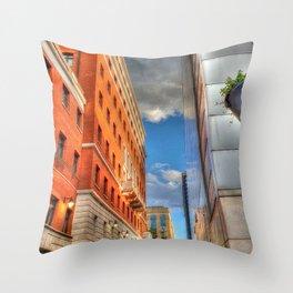 Glimpse of Blue Throw Pillow