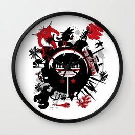 Circle of Dragon Wall Clock